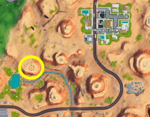 where are the cube memorials on Fortnite map