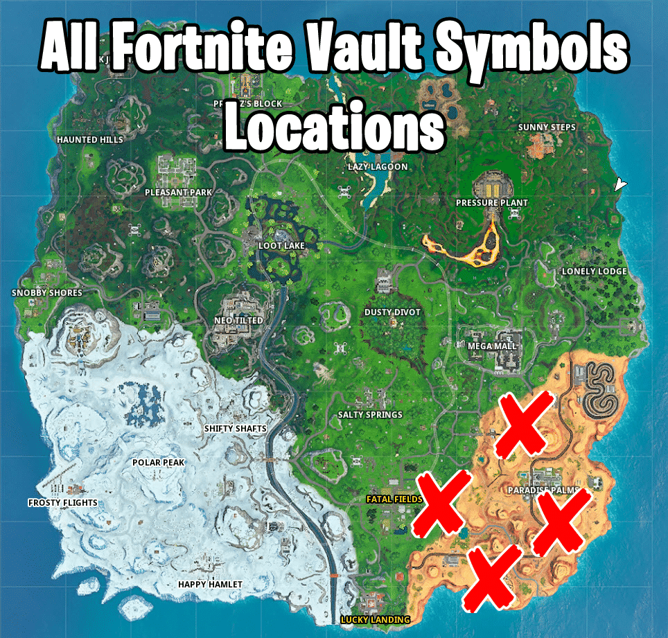 where is the vault symbol in Fortnite