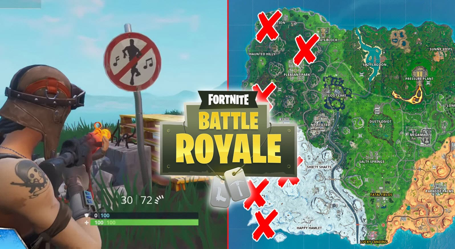 All Fortnite No Dancing Signs Locations