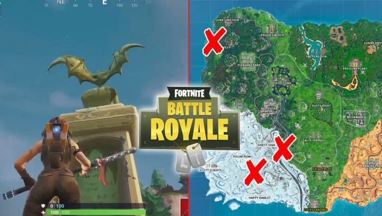 Dance In Front Of A Bat Statue In Fortnite Location