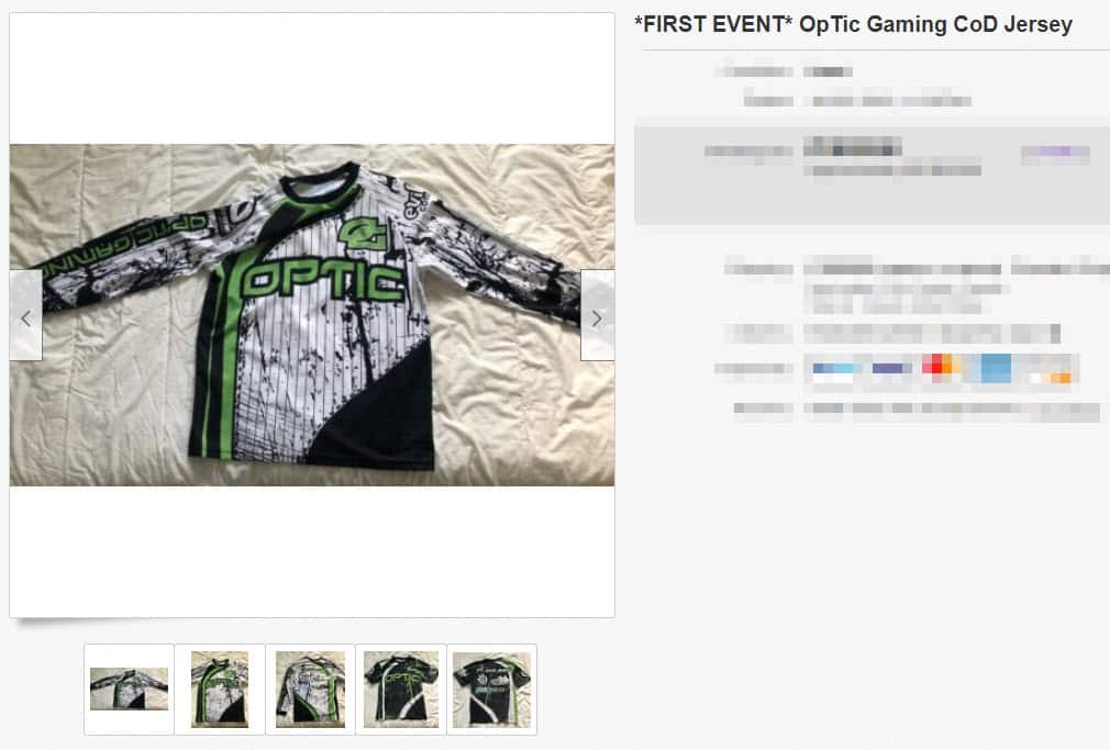 FIRST EVENT OpTic Gaming CoD Jersey esports