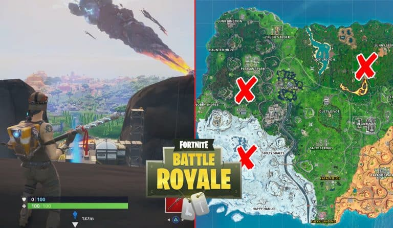 Fortnite Storm Racers Challenge Land On Polar Peak, A Volcano And A Hill Top