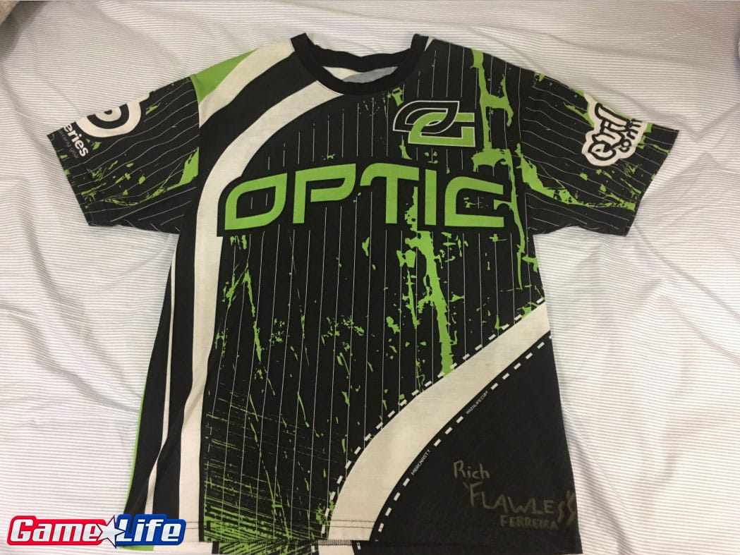 OpTic Gaming MLG Dallas 2010 First Jersey Competitive Call of duty Esports Front