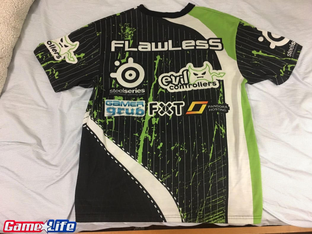 OpTic Gaming MLG Dallas 2010 First Jersey Competitive Call of duty Esports Front.png Back