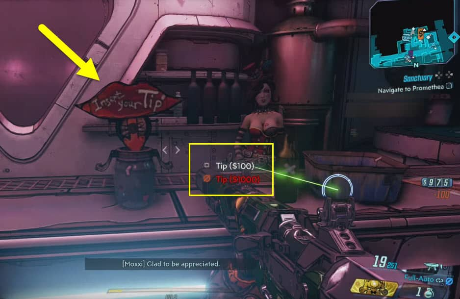 tips appreciated trophy for moxxxi bar slots