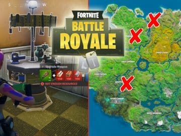 All Fortnite Weapon Upgrade Benches Locations