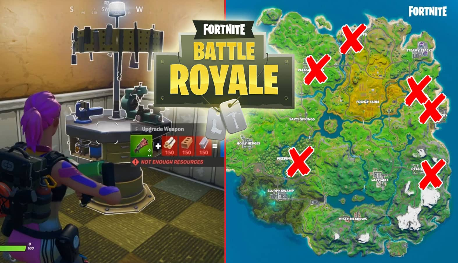 All Fortnite Weapon Upgrade Benches Locations Game Life