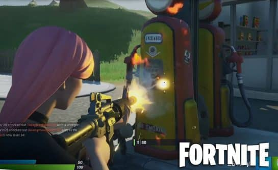 How To Deal Damage To Opponents by Shooting Exploding Gas Pumps In Fortnite