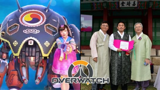 Overwatch Palanquin D.Va Skin Award Hanbok Love Certificate South Korean Government