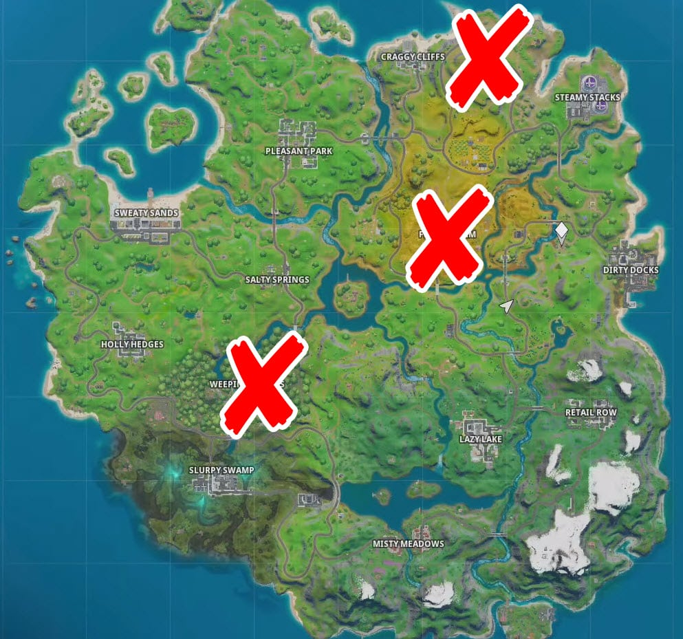 Where is the chest in the haunted forest, Ghost Town and Spooky Farm in Fortnite