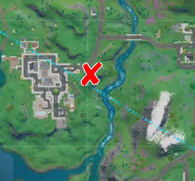 where is the hidden F in Fortnite chapter 2