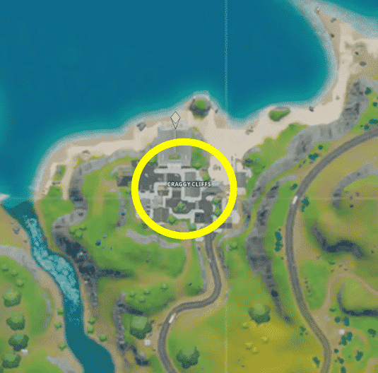 where is the hidden O in Fortnite chapter 2