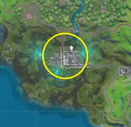 where is the hidden R in Fortnite