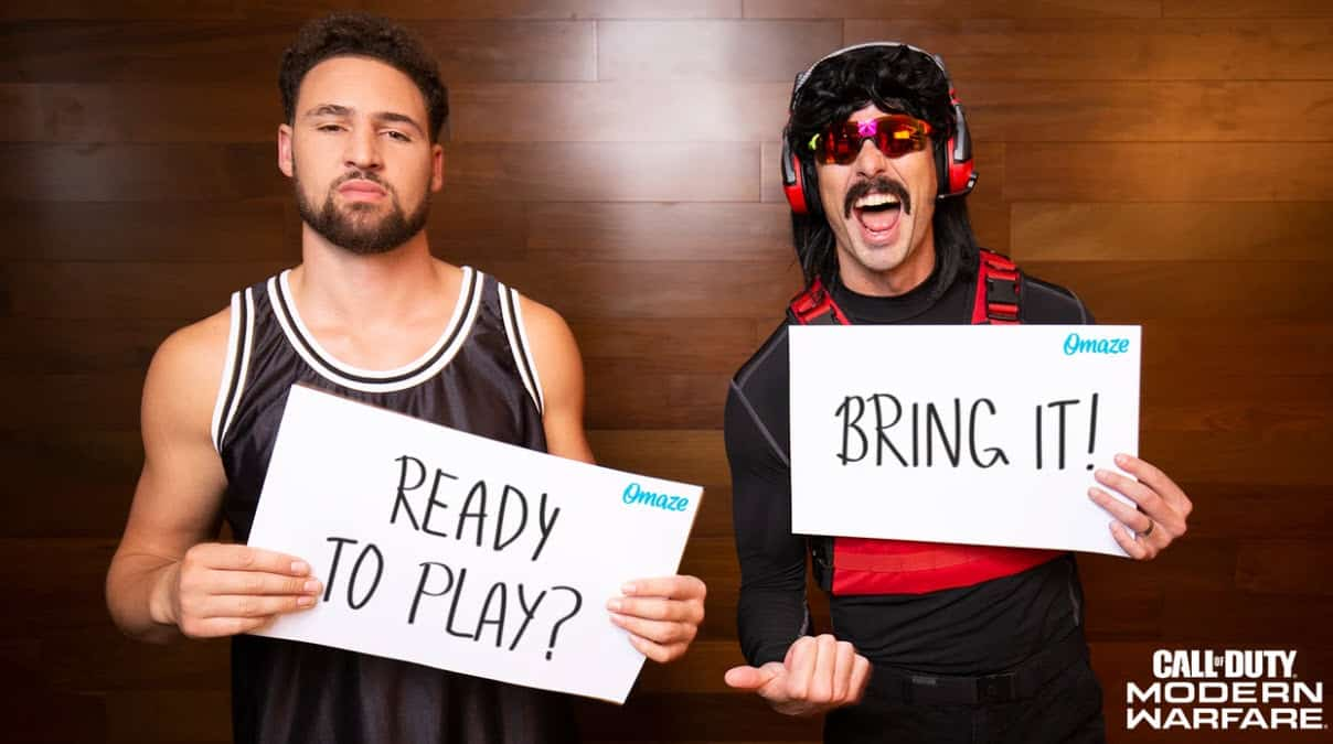 Dr Disrespect And Klay Thompson Team Up
