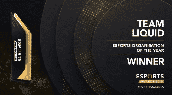 Esports Organization of the year Team Liquid 2019 Awards