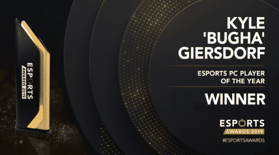 Esports PC Player of the year Kyle Bugha Giersdorf 2019 Awards