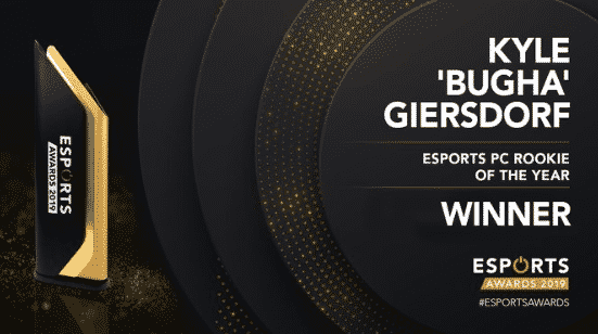 Esports PC Rookie of the year Kyle BUGHA Giersdorf 2019 Awards
