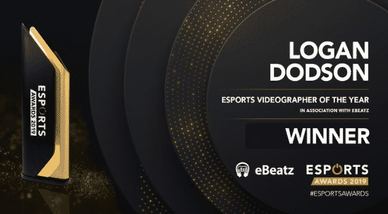 Esports Videographer of the year Logan Dodson 2019 Awards