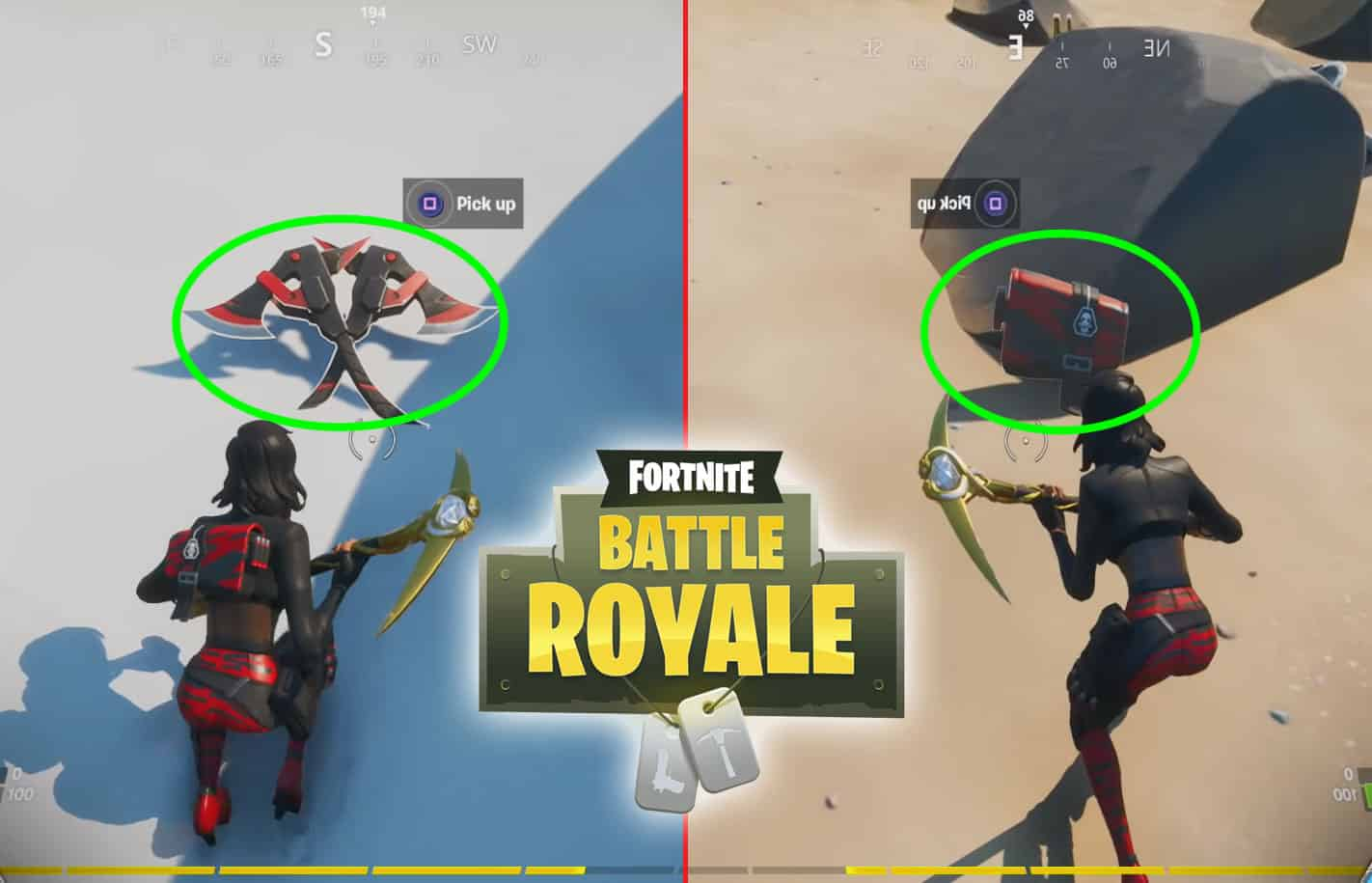 Fortnite Back Bling And Pickaxe Hidden Locations In Sorana Outfit