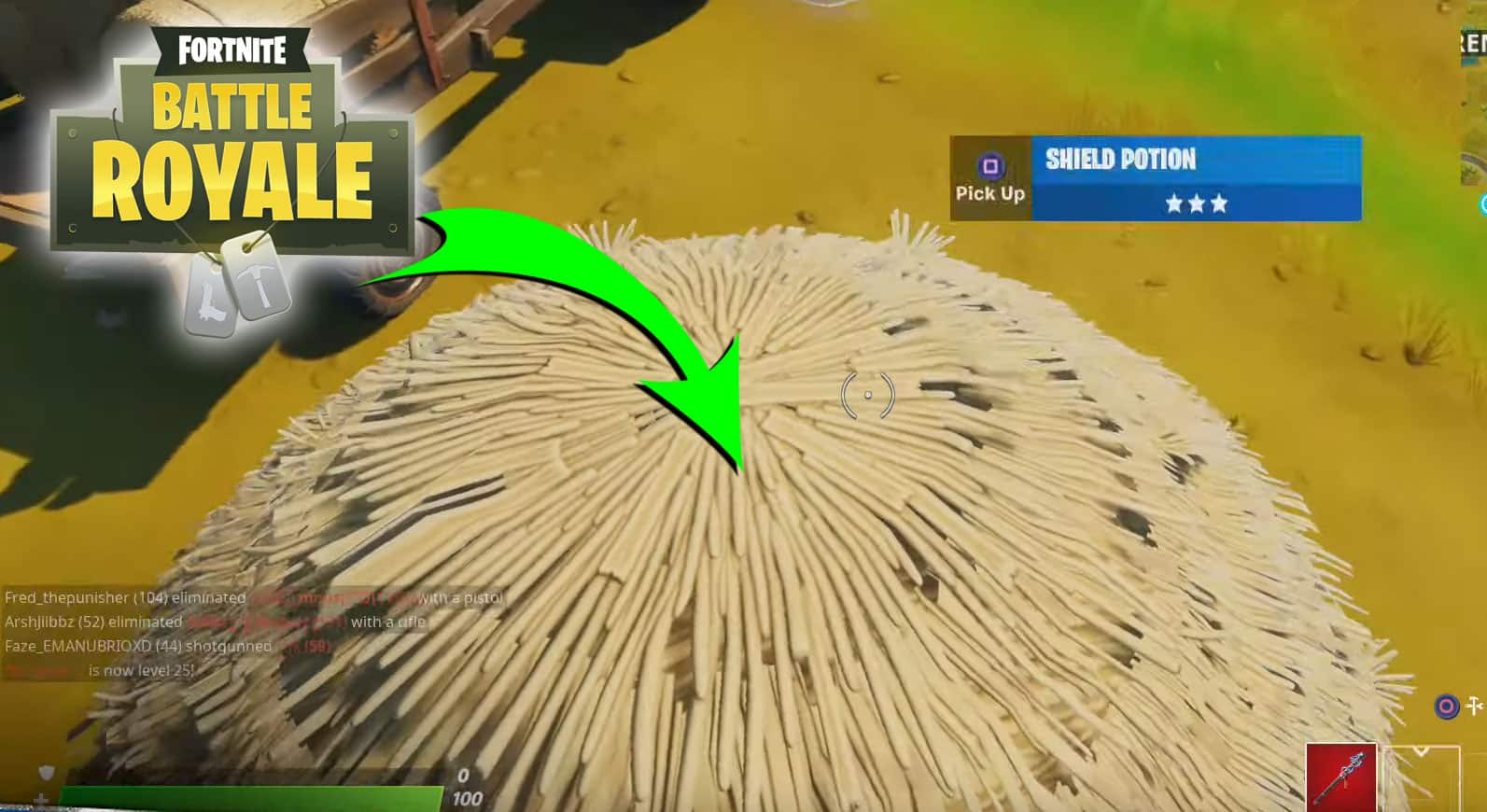 How To Save Yourself From Fall Damage In Fortnite By Landing In A Hideout Guide