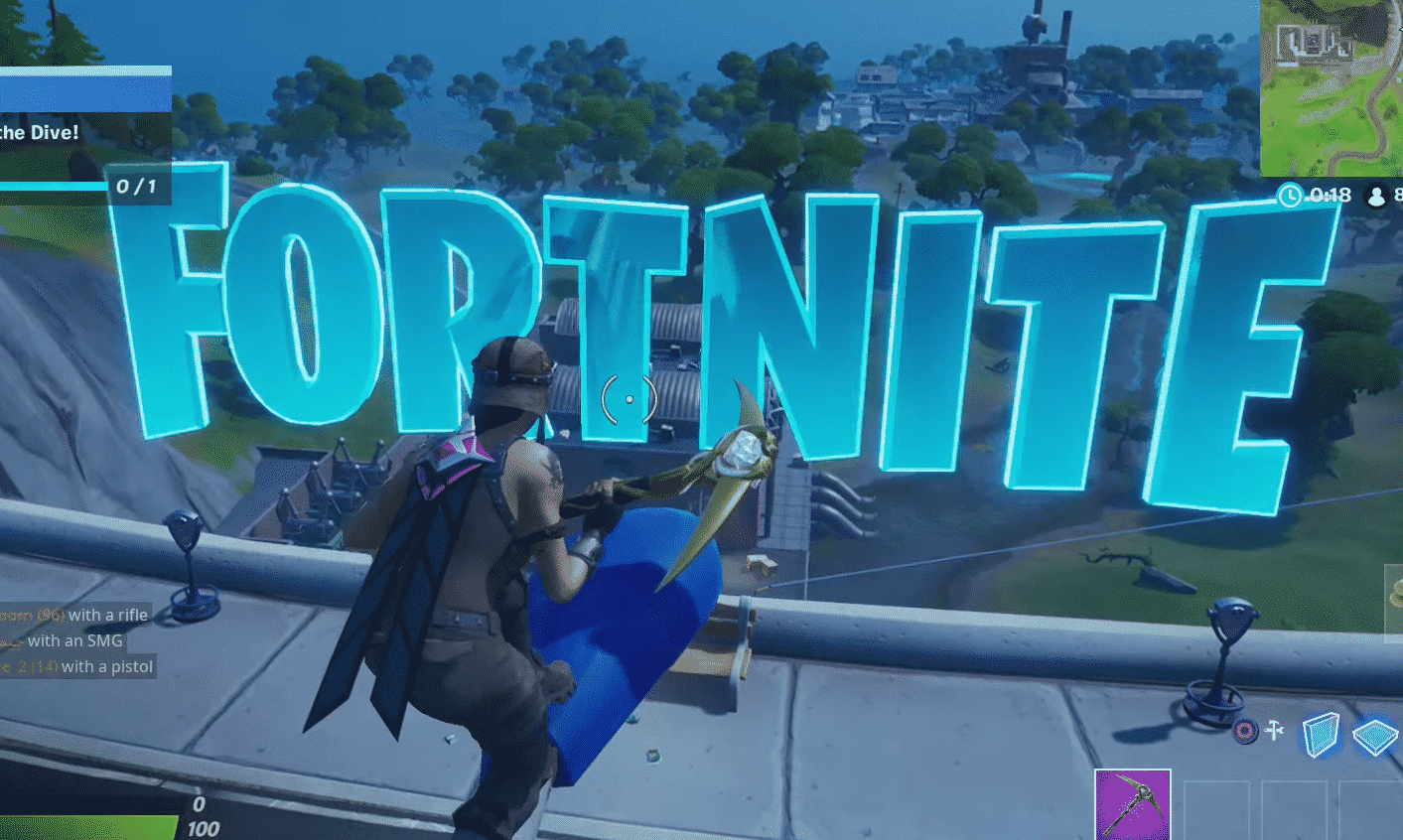Search the Fortnite Hidden E Found in the Dive! Loading Screen Location