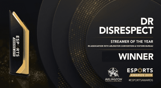 Streamer of the year Dr Disrespect 2019 Awards