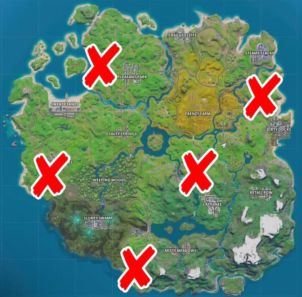 Where are the EGO Outposts Flags in Fortnite