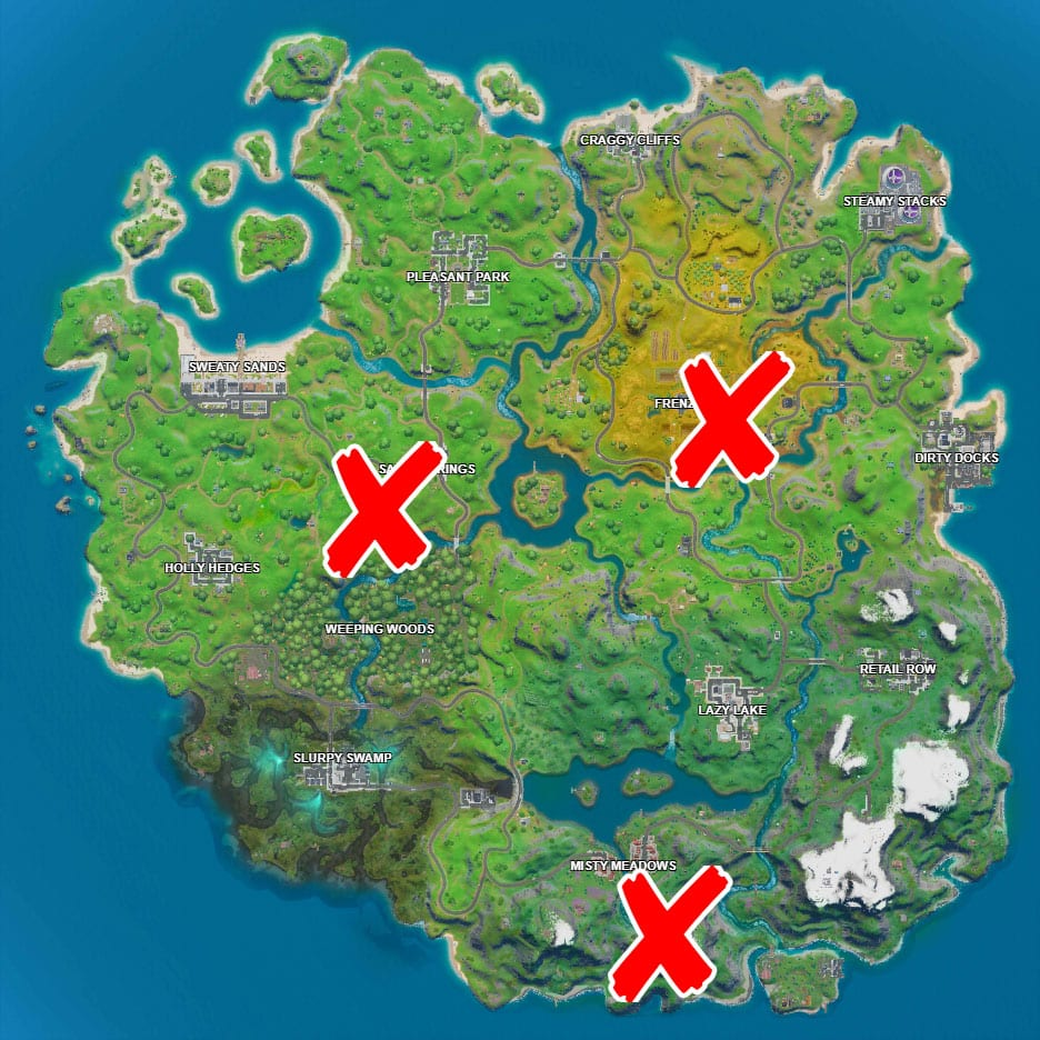 Where is The Pipeman Hayman and Timber Tent in Fortnite