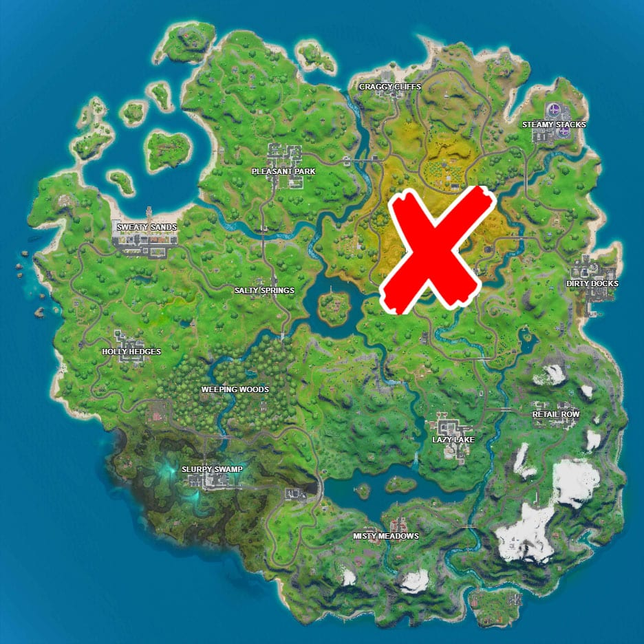 where are the foraged apples in fortnite trick shot mission