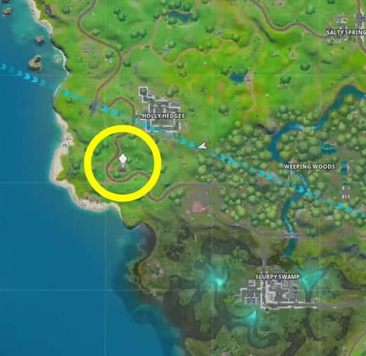 where is the hidden T in Fortnite chapter 2