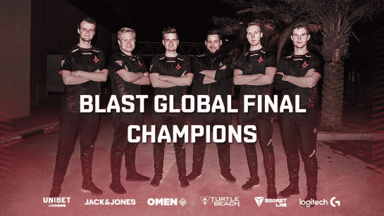 Astralis BLAST Pro Global Final Winners 2019