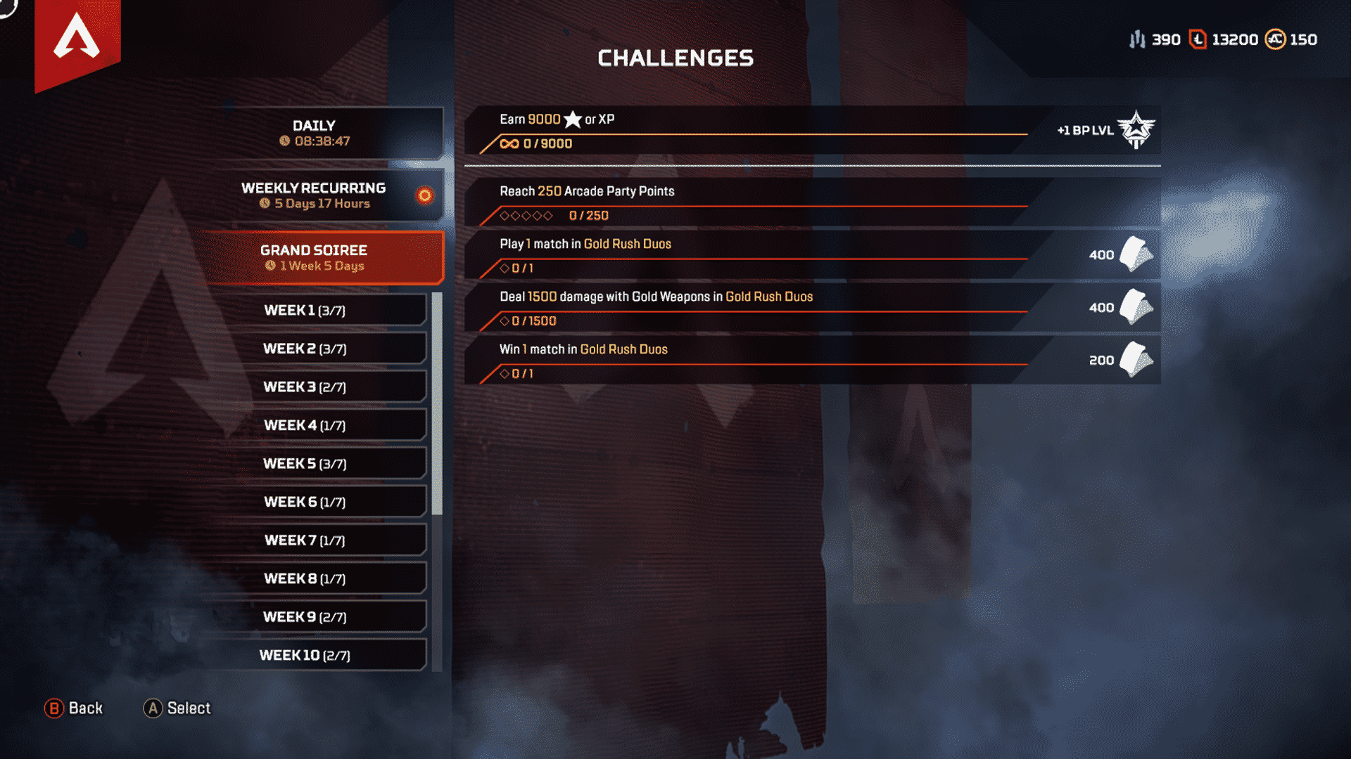 Grand Soiree challenges Apex Legends