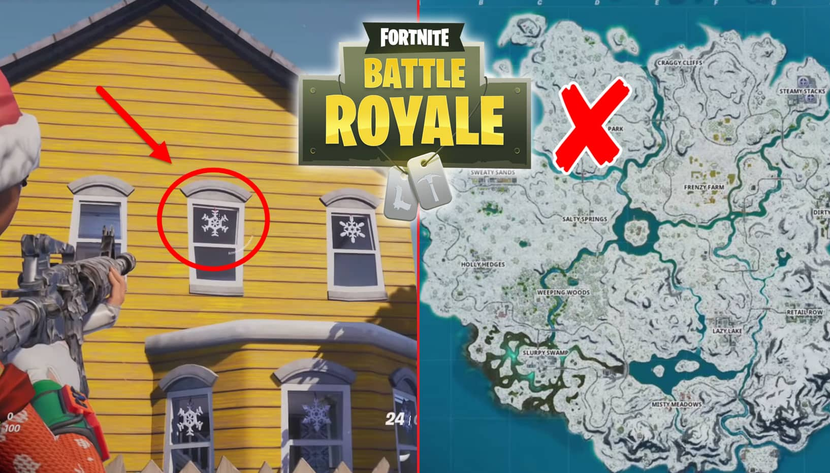 How To Destroy Fortnite Snowflake Decorations - Locations Guide