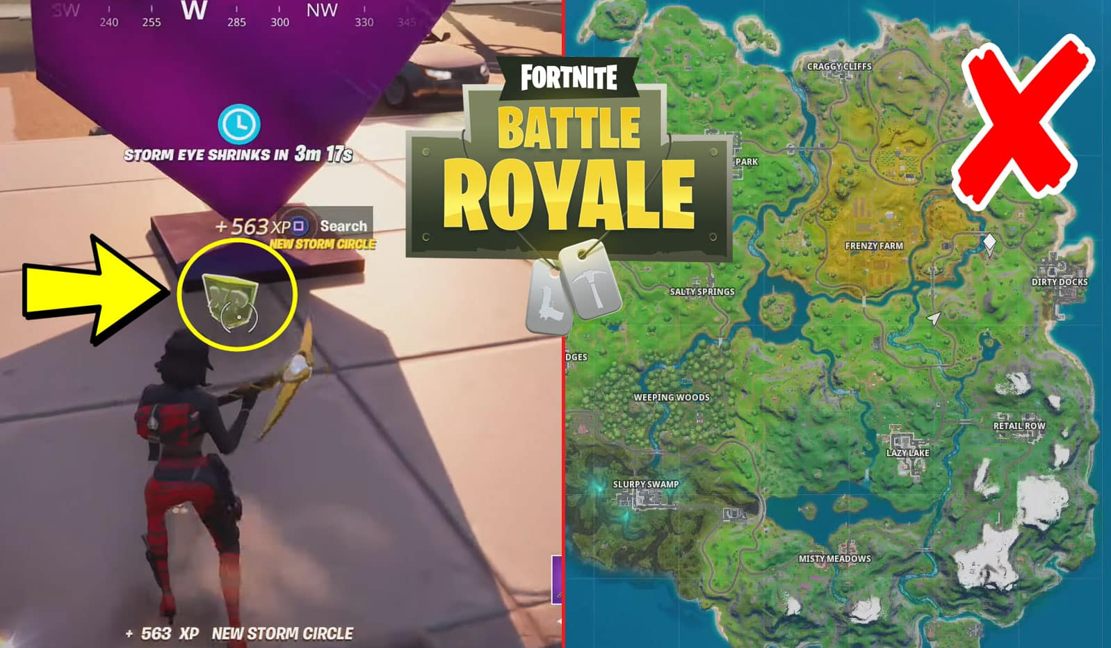 Where Is The Fortnite Xp Drop Hidden In The Chaos Rising