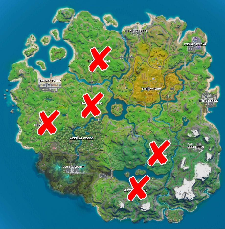 Where are the holiday trees in Fortnite