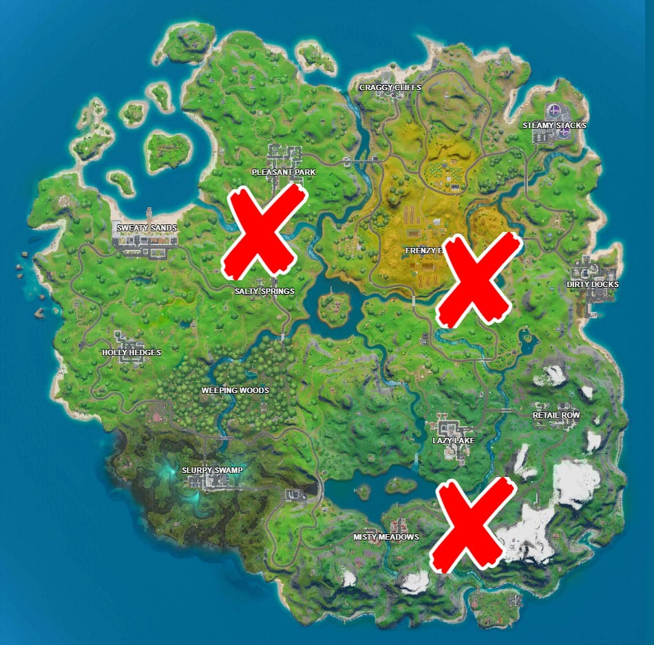 Where is the Green, Yellow, Red Steel Bridge In Fortnite
