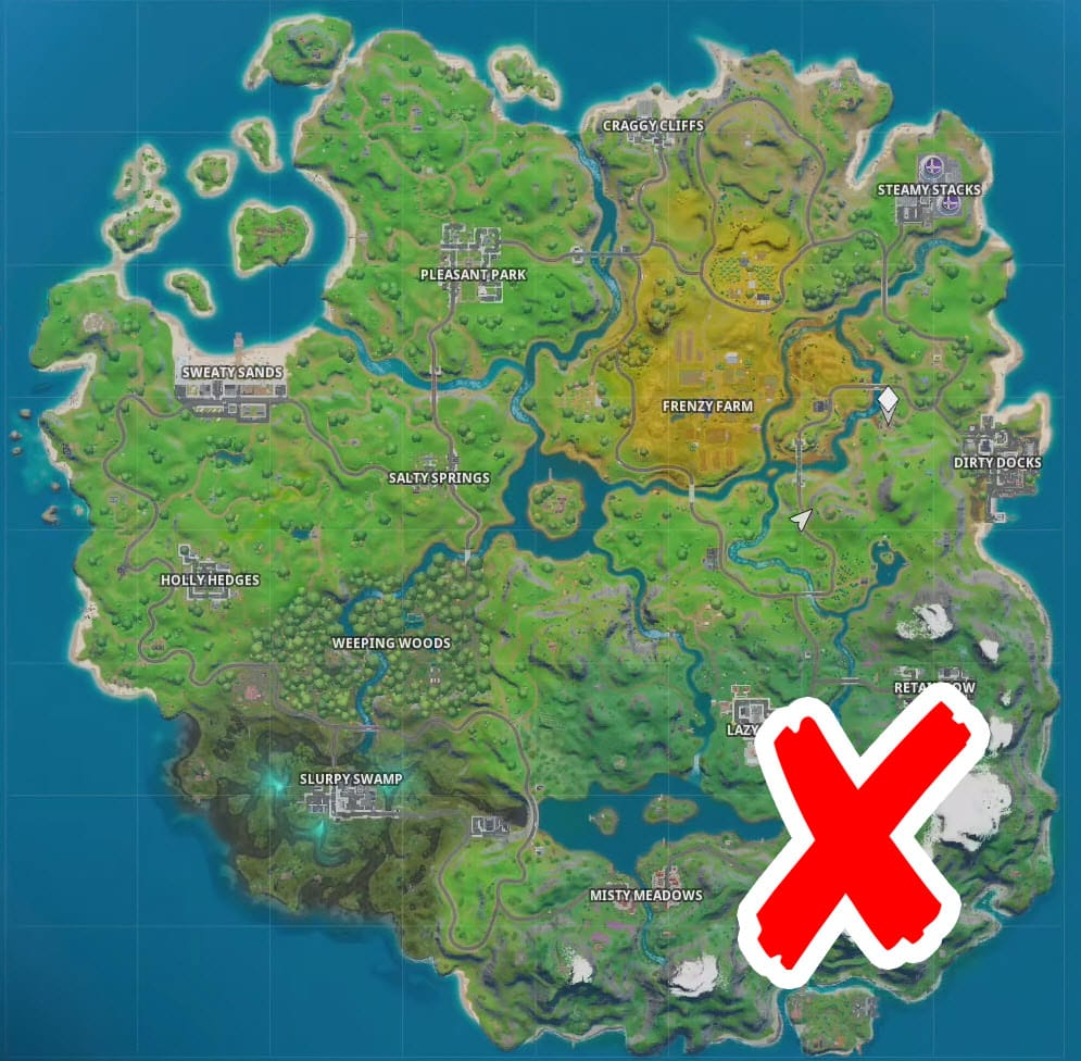 Where is the frozen loot in Fortnite