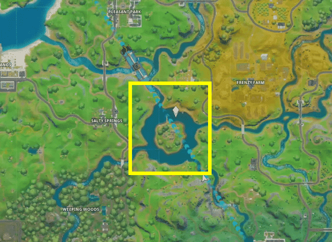 Where is the motorboat time trial in Fortnite