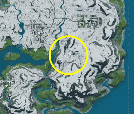 location for the Frozen loot in Fortnite
