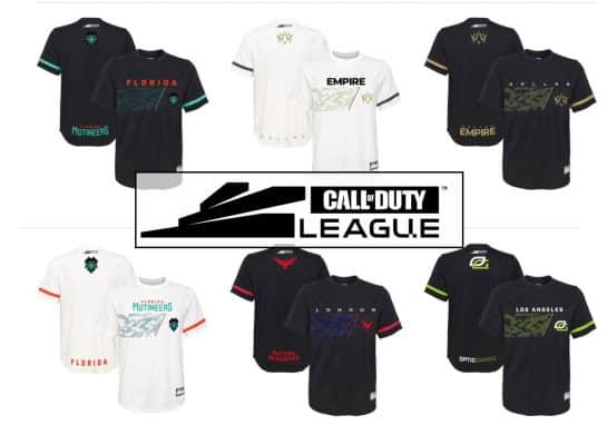 All Call of Duty League Team Jerseys