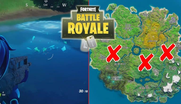 Fortnite Lake Canoe, Lazy Lake, and Flopper Pond Locations