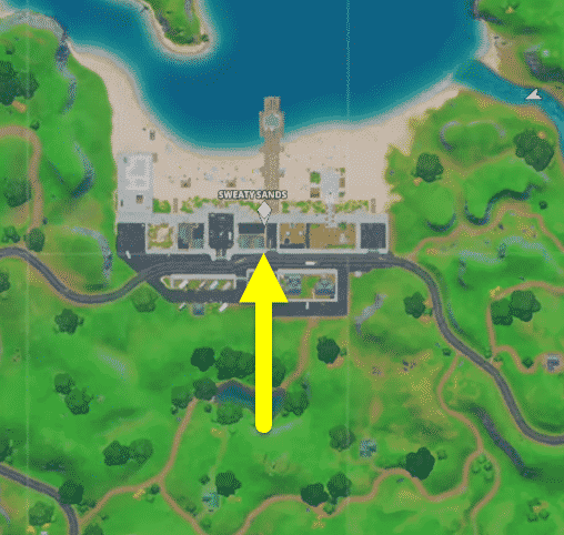 where are the bouncy objects in Fortnite