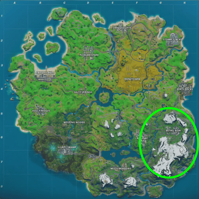 where are the mountains in Fortnite