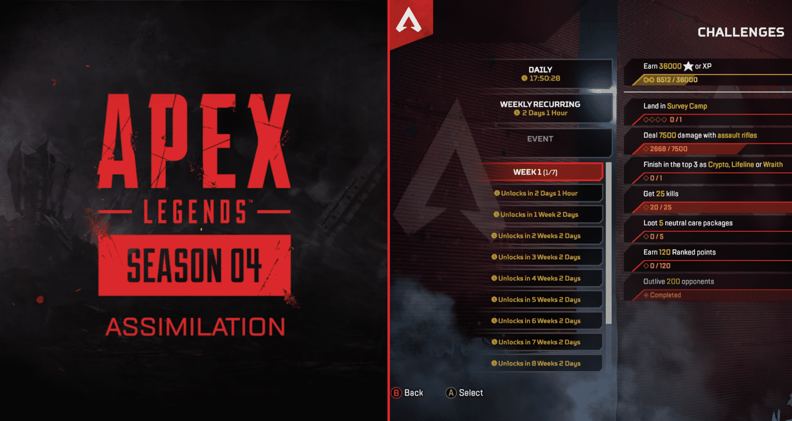 All Apex Legends Season 4 Assimilation Challenges