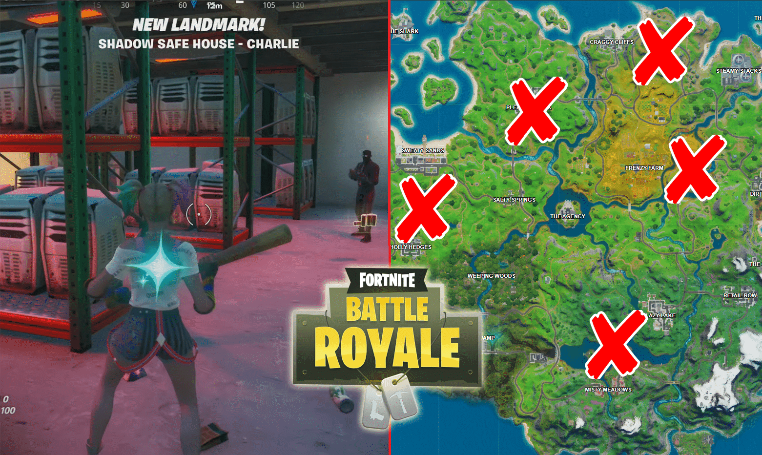 All Fortnite Shadow Safe Houses Locations Game Life