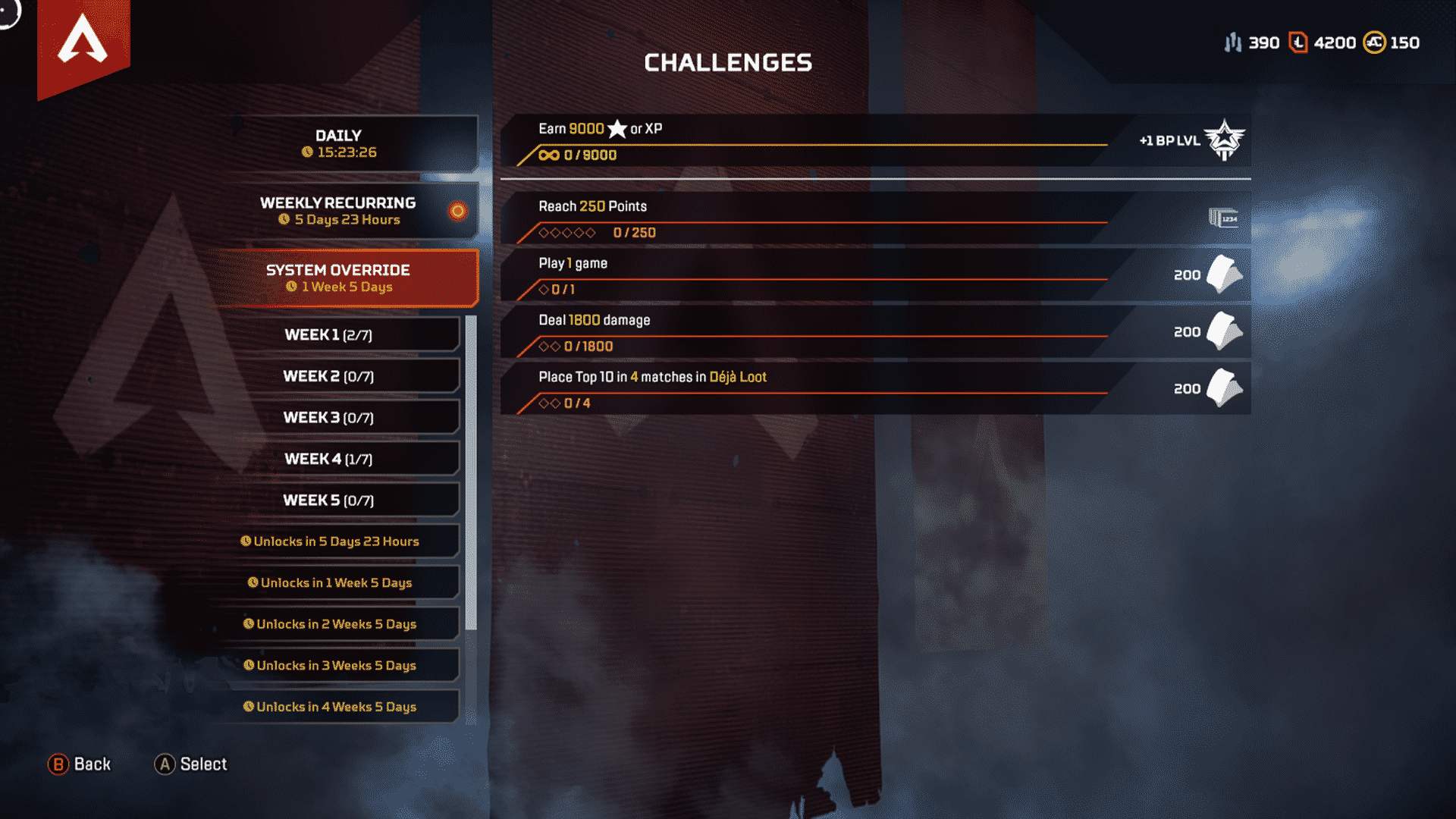 Apex Legends System Override Challenges