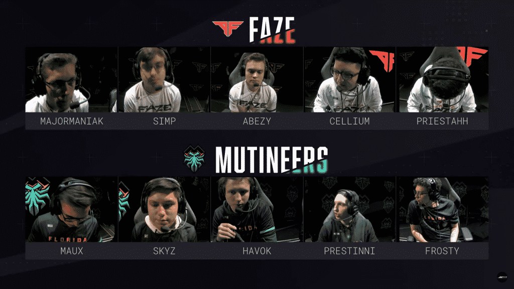 Atlanta FaZe vs Florida Mutineers CDL Atlanta Finals Roster