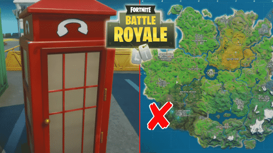 Disguise Yourself Inside a Fortnite Phone Booth in Different Matches Locations