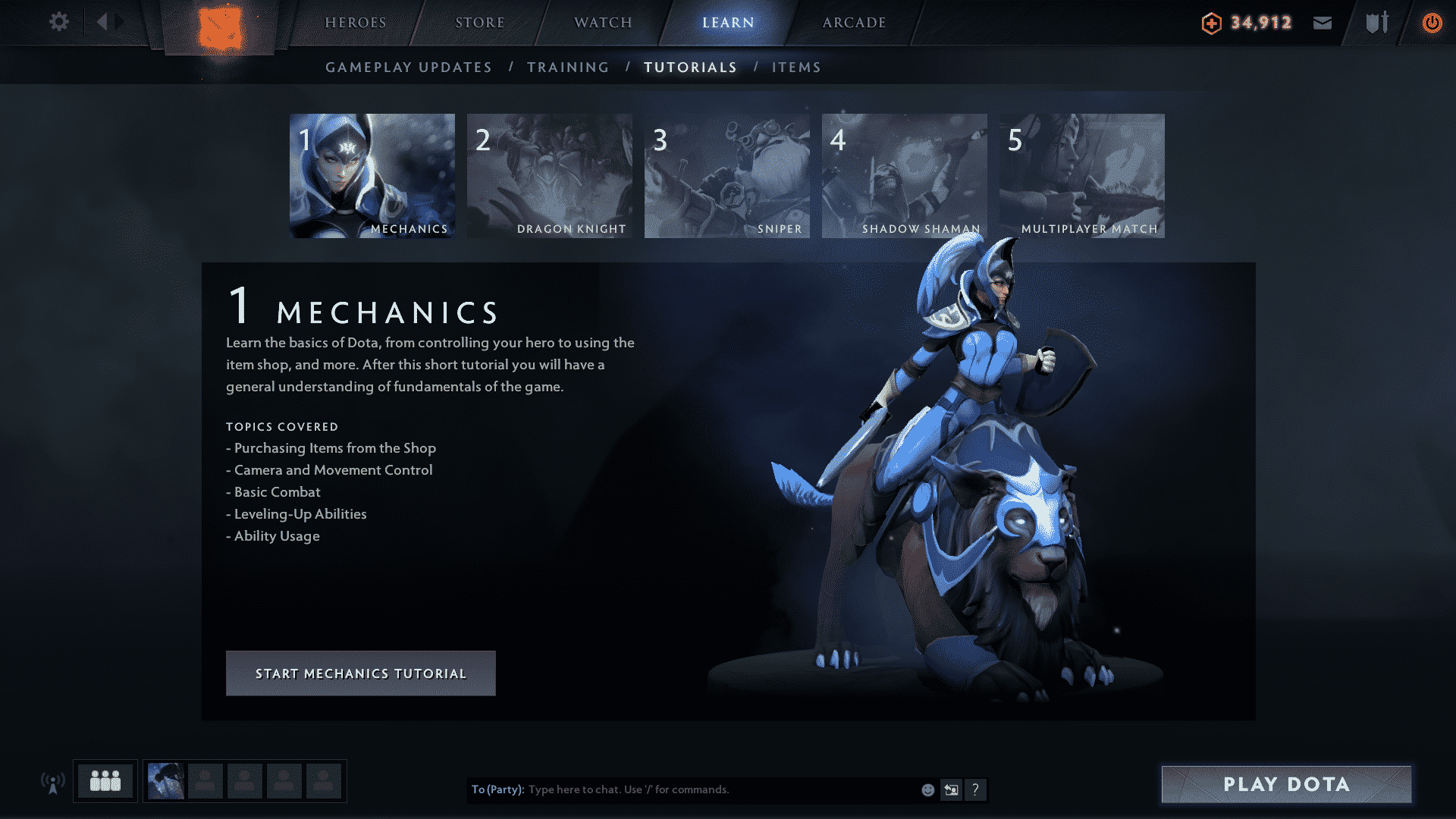 Dota 2 New Experience Tutorial Mechanics