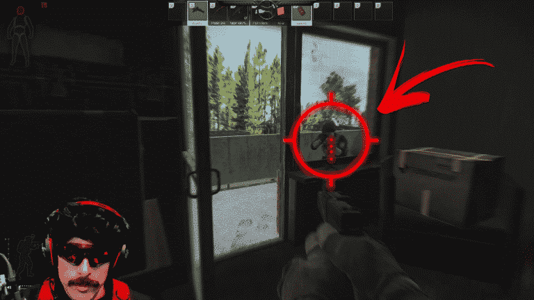 Dr Disrespect unfazed by camper in Escape From Tarkov